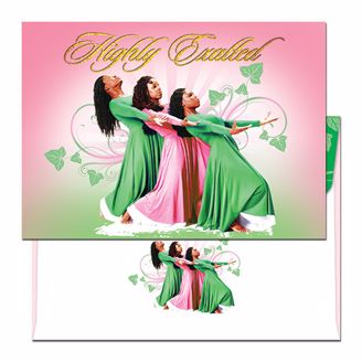 Picture of THREE LADIES PINK AND GREEN