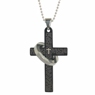 Picture of CROSS AND RING NECKLACE