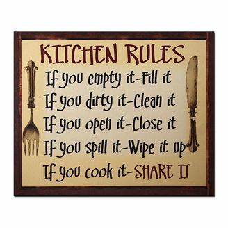 Picture of CHWP28 Kitchen Rules Wall Plaque