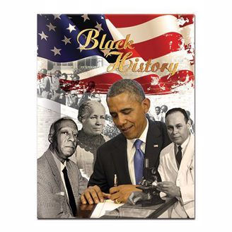 Blank Journal with Black History Cover, Obama and other influential figures