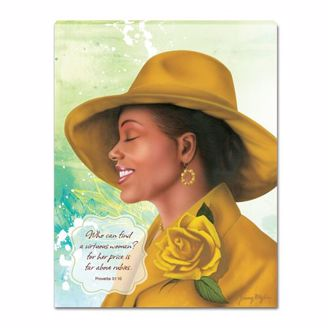 Black Art by Ronny Myles of African American Woman in Yellow