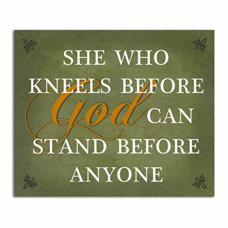 Picture of CHWP12 She Who Kneels Wall Plaque