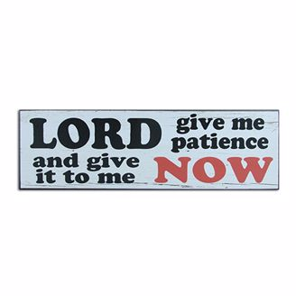 Picture of CHWP16 Patience Wall Plaque