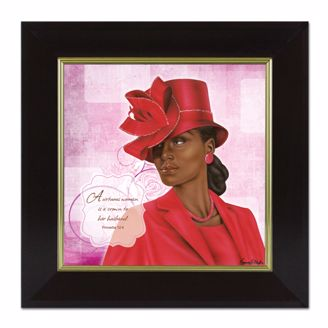 Picture of VIRTUOUS WOMAN RED (PROVERBS 124)