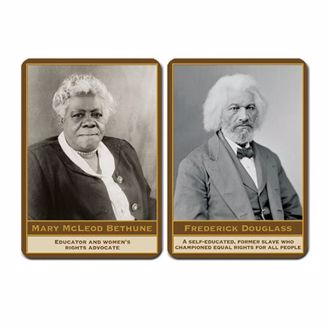 Mary McLeod and Frederick Douglass on magnets