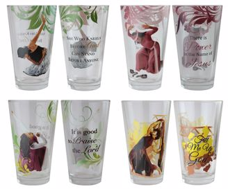 Picture of DGL01 Praise Dancers Drinking Glass Set