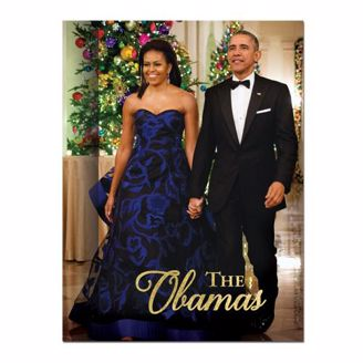 Picture of the Obamas in Front of Christmas Tree - Journal Cover