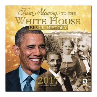 Black Calendar with President Obama & Other Influential African Americans