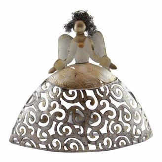 African American Expressions Angel Candle Holder