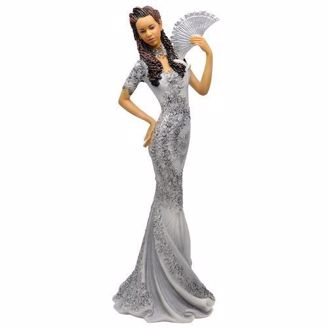 Figurine of Glamorous African American Woman with Fan