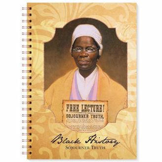 Blank Wired Writing Journal with Sojourner Truth on Cover