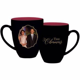 Black Coffee Mug with Picture of the Obamas