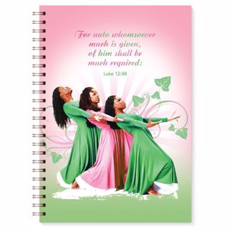Picture of J157 Three Ladies (Pink and Green) Wired Journal