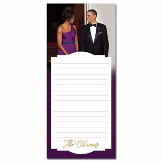 Magnetic Notepad with Picture of the Obamas