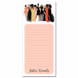 Sister Friends Magnetic Notepad from African American Expressions
