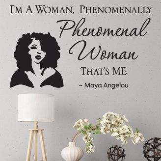 Picture of WD05 Phenomenal Woman Wall Art Decal