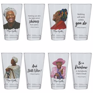 Picture of DGL05 Maya Angelou Drinking Glass Set
