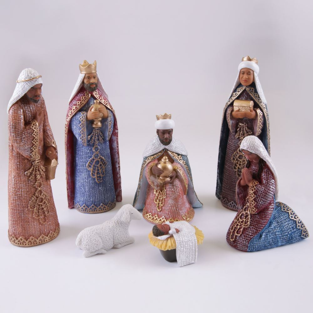 African American Nativity Set Black Figurines African American Expressions