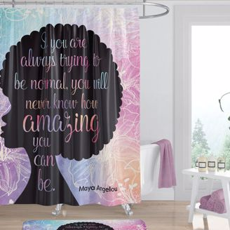 Picture of SC05 Amazing Quote (Maya Angelou) Shower Curtain