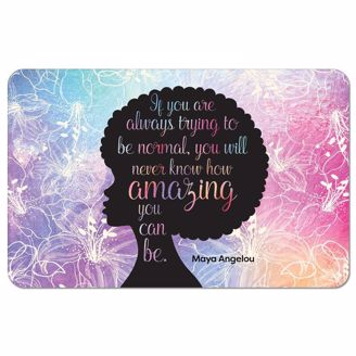 Picture of SM05 Amazing Quote (Maya Angelou) Floor Mat