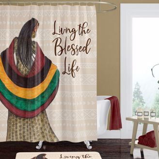 Picture of SC11 Blessed Life Shower Curtain
