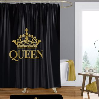 Picture of SC10 Black Queen Shower Curtain