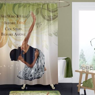 Picture of SC09 She Who Kneels Shower Curtain