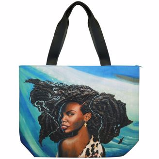 Wonderfully Made Black Art Canvas Handbag