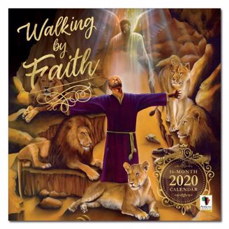 Walking by Faith Black Art 2020 Collectible African American Calendar - Cover