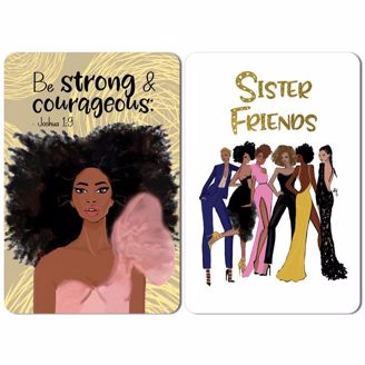 Picture of M208 Strong Girl / Sister Friends Magnet Set