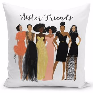 Picture of PC04 Sister Friends Pillow Cover
