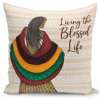Picture of PC11 Blessed Life Pillow Cover