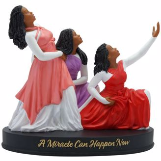 Praise Dancers A Miracle Can Happen Now Black Figurines
