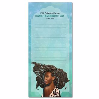 Picture of MNP129 Fearfully/Wonderfully Made Magnetic Notepad