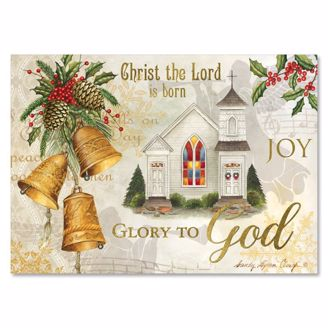 Picture of C954 Golden Bells Christmas Card
