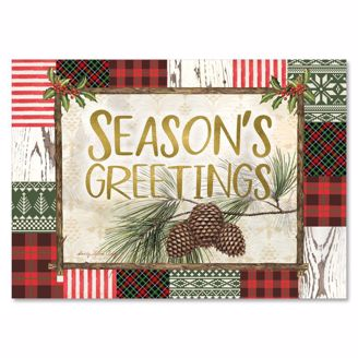 Picture of C955 Season's Greetings Pine Cone Christmas Card