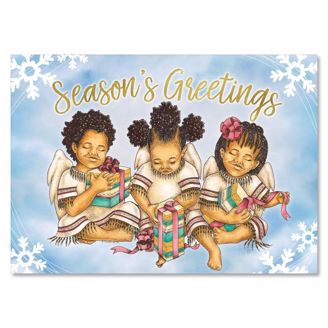 Picture of C961 Little Angels Season's Greetings Christmas Card