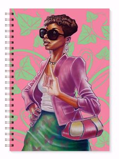 Pink and Green Black Art Wired Journal J217