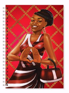 Red and White Black Art Wired Journal J218