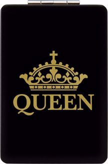 Queen Black and Gold Crown Compact Mirror PM06