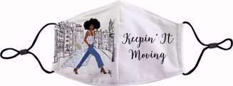 Keepin It Moving Sister Friends Face Mask FM01 - Front