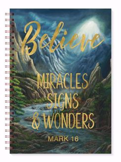 Believe Miracles Signs and Wonders Mark 16 Gold Foil Journal J222