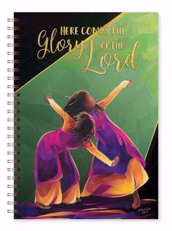 Here Comes the Glory of the Lord Black Art Journal J224