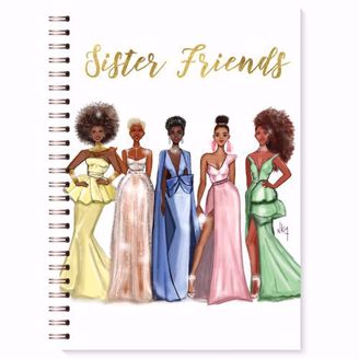 Sister Friends   Black Stationery   African American Expressions