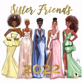 Sister Friends Wall Calendar | Black Stationery | African American Expressions