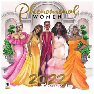 Phenomenal Women Wall Calendar | Black Stationery | African American Expressions
