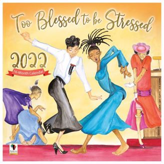 Too Blessed Wall Calendar | Black Stationery | African American Expressions