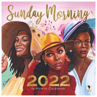 Sunday Morning Wall Calendar | Black Stationery | African American Expressions