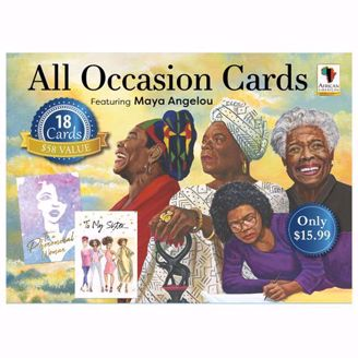 African American Greeting Cards Boxed Assortment featuring Maya Angelou AOAB780